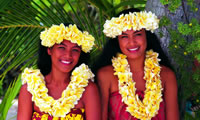 Young Tahitian girls, Papeete, French Polynesia