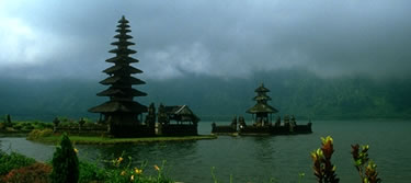 Balinese temple at Lake Beratan, Northern Bali