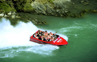 Jet-boating in New Zealand