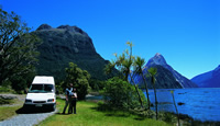 Vacation with a Recreational Vehicle at Milford Sound, New Zealand